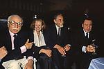 MARIO MONICELLI CON GABRIELLA PESCUCCI VITTORIO GASSMAN E ALBERTO SORDI -  FESTA PER L'OSCAR A GABRIELLA PESCUCCI - GILDA CLUB ROMA  1994