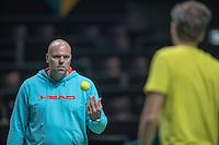 Rotterdam, Netherlands, 12 februari, 2017, ABNAMROWTT, Raymond Knaap coach of Robin Haase<br /> Photo: Henk Koster