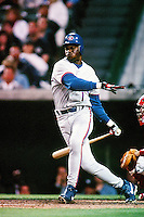 Tony Fernandez of the Toronto Blue Jays during a game against the Anaheim Angels at Angel Stadium circa 1999 in Anaheim, California. (Larry Goren/Four Seam Images)