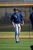 Villanova Wildcats pitcher Conor McCarthy (23) warms up in the outfield before a game against the Dartmouth Big Green on February 27, 2016 at South Charlotte Regional Park in Punta Gorda, Florida.  Villanova defeated Dartmouth 14-1.  (Mike Janes/Four Seam Images)