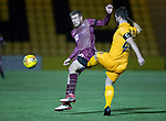Livingston v St Johnstone…31.10.18…   Tony Macaroni Arena    SPFL<br />David Wotherspoon takes a sore knock to the thigh as he closes down Craig Halkett<br />Picture by Graeme Hart. <br />Copyright Perthshire Picture Agency<br />Tel: 01738 623350  Mobile: 07990 594431