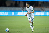 SAN JOSE, CA - SEPTEMBER 16: Marco Farfan #32 of the Portland Timbers controls the ball during a game between Portland Timbers and San Jose Earthquakes at Earthquakes Stadium on September 16, 2020 in San Jose, California.