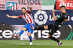 Juanfran of Atletico de Madrid battles for the ball with Andreas Pereira of Granada CF during their La Liga match between Atletico de Madrid and Granada CF at the Vicente Calderon Stadium on 15 October 2016 in Madrid, Spain. Photo by Diego Gonzalez Souto / Power Sport Images