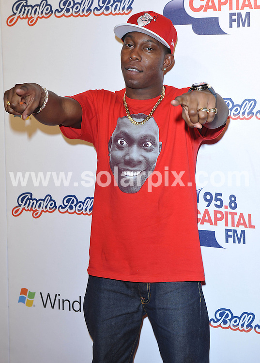 **ALL ROUND PICTURES FROM SOLARPIX.COM**.**WORLDWIDE SYNDICATION RIGHTS**.Press room at the Jinglebell Ball 2009. Held at the O2 Arena, Greenwich Peninsula in London UK..This pic:Dizzee Rascal..JOB REF: 10346      SSD     DATE:06.12.09.**MUST CREDIT SOLARPIX.COM OR DOUBLE FEE WILL BE CHARGED**.**MUST NOTIFY SOLARPIX OF ONLINE USAGE**.**CALL US ON: +34 952 811 768 or LOW RATE FROM UK 0844 617 7637**