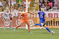 Frisco, TX - Sunday September 03, 2017: Megan Rapinoe during a regular season National Women's Soccer League (NWSL) match between the Houston Dash and the Seattle Reign FC at Toyota Stadium in Frisco Texas. The match was moved to Toyota Stadium in Frisco Texas due to Hurricane Harvey hitting Houston Texas.