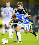 Real Sociedad's Sergio Canales (f) and Rosenborg BK's Vegar Hedenstad during Europa League, Group L, match 1. September 14,2017. (ALTERPHOTOS/Acero)