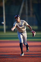 Marcus Smith (57), from New York, New York, while playing for the Brewers during the Baseball Factory Pirate City Christmas Camp & Tournament on December 30, 2017 at Pirate City in Bradenton, Florida.  (Mike Janes/Four Seam Images)