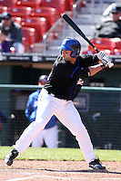 April 19, 2010:  Chris Carter of the Buffalo Bisons at bat during a game at Coca-Cola Field in Buffalo, New York.  The Bisons are the Triple-A International League affiliate of the New York Mets.  Photo By Mike Janes/Four Seam Images