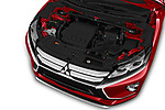 Car stock 2019 Mitsubishi Eclipse-Cross SEL 5 Door SUV engine high angle detail view