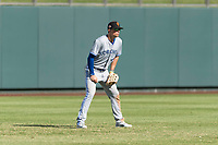 Surprise Saguaros left fielder Cavan Biggio (26), of the Toronto Blue Jays organization, during an Arizona Fall League game against the Salt River Rafters at Salt River Fields at Talking Stick on October 23, 2018 in Scottsdale, Arizona. Salt River defeated Surprise 7-5 . (Zachary Lucy/Four Seam Images)