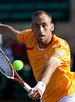 08-07-11, Tennis, South-Afrika, Potchefstroom, Daviscup South-Afrika vs Netherlands, Thomas Schoorel