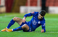 11th February 2021; Oakwell Stadium, Barnsley, Yorkshire, England; English FA Cup 5th round Football, Barnsley FC versus Chelsea; Christian Pulisic of Chelsea after missing a decent first half chance on goal
