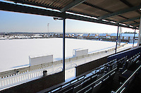 Snow covers the pitch at Mill Field, home of Aveley Football Club -  03/02/09 - MANDATORY CREDIT: Gavin Ellis/TGSPHOTO - Self billing applies where appropriate - Tel: 0845 094 6026