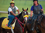Trinniberg, trained by Binsath Parboo and to be ridden by Willie Martinez, works out in preparation for the 138th Kentucky Derby at Churchill Downs in Louisville, Kentucky on May 3, 2012