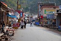 India, Rishikesh.  Street Scene.