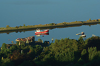 Bowling Basin and the River Clyde from the Kilpatrick Hills, West Dunbartonshire<br /> <br /> Copyright www.scottishhorizons.co.uk/Keith Fergus 2011 All Rights Reserved