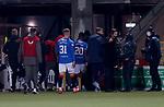 03.03.2021 Livingston v Rangers: Borna Barisic walks off