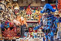 Carnevale souvenir shop, Venice, Italy