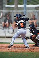 Miami Marlins Alexander Fernandez (8) during a minor league Spring Training intrasquad game on March 31, 2016 at Roger Dean Sports Complex in Jupiter, Florida.  (Mike Janes/Four Seam Images)