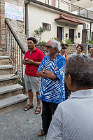 """Alex Zanotelli (Member of the Combonian missionaries in Verona, founder of the Italian movements whose goals include social harmony & equality: http://bit.ly/2FHBH3a).<br /> <br /> Riace (Calabria, Italy), 04/08/2018. Visiting Riace for the third day of the """"Riace in Festival"""", 'Festival delle Migrazioni e delle Culture Locali' (Festival of Migration and Local Cultures). Attending the festival, amongst others, were the Mayor of Napoli Luigi De Magistris and the Mayor of Barcelona Ada Colau, debating with the Mayor of Riace, Domenico 'Mimmo' Lucano, about the so called """"migration crisis"""", as well as the now famous """"Modello Riace"""" (The Riace Model: how to welcome and work with Migrants to invest in building a future together). Other speakers included: Tiziana Barillà, Journalist at """"il Salto"""" (1) and Author of the book """"Mimi Capatosta. Mimmo Lucano e il modello Riace"""" (2),  Magistrates Riccardo De Vito and Emilio Sirianni (in turn President and Member of Magistratura Democratica). Chair of the event was Ilaria Bonaccorsi, Historian & Journalist at """"il Salto"""".<br /> From the Festival website: """"RIACE in FESTIVAL, is an event born in the wake of the policy of reception and resettlement of refugees and asylum seekers that the city administration of the """"Riace Bronzes'"""" town has been implementing for years. [...] The festival aims to be a concrete initiative that, through the universal language of cinema and the arts, promotes the exchange and mutual knowledge to counteract forms of closure and racism, drawing attention to the innovative path that the municipal administration of Riace has started by combining the reception of migrants with the revival of its territory and giving the image of an unpublished Calabria, different from that of the black chronicle>>.<br /> Riace is a small village in the province of Reggio Calabria. It's famous because on the 16 August 1972...<br /> <br /> (For the full caption read the ARTICLE at the the beginning of this story)"""