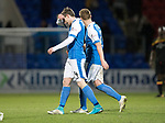 St Johnstone v Partick Thistle…27.01.18…  McDiarmid Park…  SPFL<br />Blair Alston and Liam Craig trudge off at full time<br />Picture by Graeme Hart. <br />Copyright Perthshire Picture Agency<br />Tel: 01738 623350  Mobile: 07990 594431