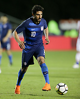 Cary, N.C. - Tuesday March 27, 2018: Kenny Saief during an International friendly game between the men's national teams of the United States (USA) and Paraguay (PAR) at Sahlen's Stadium at WakeMed Soccer Park.