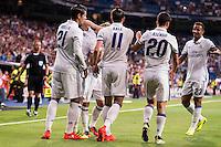 Real Madrid's player Morata, Gareth Bale, Nacho, Luka Modric, Asensio and Danilo during the XXXVII Santiago Bernabeu Trophy in Madrid. August 16, Spain. 2016. (ALTERPHOTOS/BorjaB.Hojas) /NORTEPHOTO