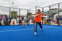 Den Bosch, Netherlands, 16 June, 2017, Tennis, Ricoh Open,  Padel with Paul Haarhuis<br /> Photo: Henk Koster/tennisimages.com