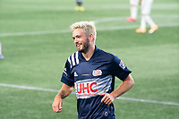FOXBOROUGH, UNITED STATES - AUGUST 20: Kelyn Rowe #11 of New England Revolution during a game between Philadelphia Union and New England Revolution at Gilette on August 20, 2020 in Foxborough, Massachusetts.