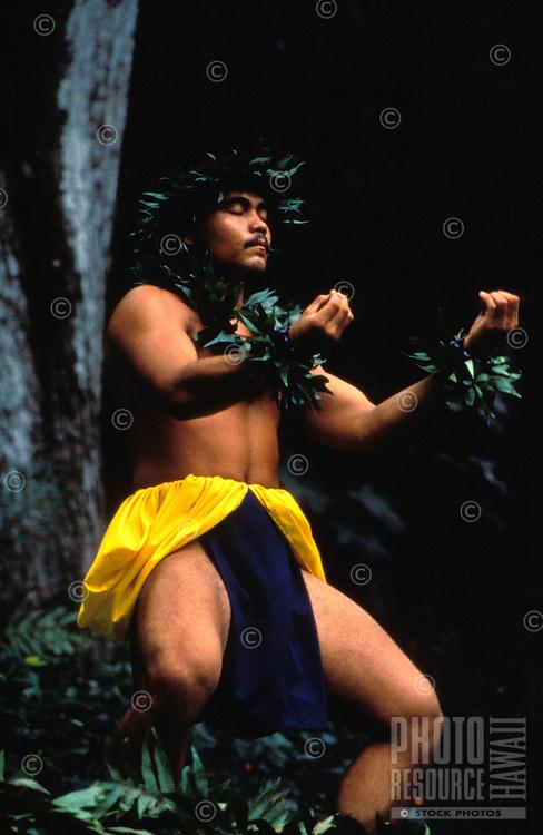 A performance of hula kahiko (ancient hula)