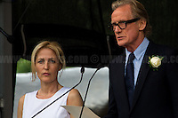 (From L to R) Gillian Anderson (American-British film, television and theatre actress, activist and writer) & Bill Nighy (British film, television and theatre actor).<br /> <br /> London, 22/06/2016. Today, thousands of people gathered in Trafalgar Square to celebrate the life Jo Cox, the Labour Member of Parliament who was brutally killed by the far-right extremist Thomas Mair on the 16th of June 2016. From the organisers Facebook page: <<[…] We will gather together in Trafalgar Square to celebrate Jo's warmth, love, energy, passion, flair, Yorkshire heritage, and belief in the humanity of every person in every place, from Batley and Spen to Aleppo and Darayya. Jo believed that there is more that unites us than divides us, and she was killed for those beliefs. She believed in a love that is fierce, brave and humble. Her death has devastated a family, and attacked the ideals that we as a nation most cherish. But we will not be divided. We will rise up together to carry Jo's message forward. We will meet hate with love. On the day Jo would have been 42, we are asking everyone, everywhere to love like Jo loved. Jo's legacy is a direct challenge to everyone here, to take part, speak up and be a voice for the voiceless, to treat even those we disagree with with tolerance and genuine respect. Let's honour Jo on Wednesday by carrying forward the message that she now symbolises around the world - that we have #moreincommon than that which divides us.>>.<br /> <br /> For more information about the event please click here: https://www.facebook.com/events/1369130213102106/<br /> <br /> For more information about the death of Jo Cox please click here: https://en.wikipedia.org/wiki/Death_of_Jo_Cox & http://www.bbc.co.uk/news/uk-england-36550304