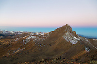 First light on Wetterhorn Peak