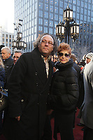 Angelito Michaud and Veronique Beliveau atttend the funeral of Rene Angelil, , Friday Jan. 22, 2016 at Notre-Dame Basilica in Montreal, Canada.<br /> <br /> <br /> <br /> <br /> <br /> <br /> <br /> <br /> <br /> <br /> <br /> <br /> <br /> .