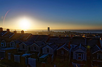 WEATHER WALES<br /> The sun rises over frosted roof tops during a frosty start to the morning in Swansea, Wales, UK. Wednesday 07 February 2018