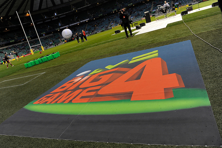 LV= corporate branding at the Aviva Premiership match between Harlequins and Saracens at Twickenham on Tuesday 27 December 2011 (Photo by Rob Munro)
