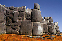Sacsahuaman or Saqsaywaman, Inca Fort, Cuzco, Peru