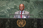 General Assembly Seventy-third session, 14th plenary meeting<br /> <br /> <br /> His Excellency Urbino Jose Gonc;alves BOTELHO Minister for Foreign Affairs and Comunities of Sao Tome and Principe