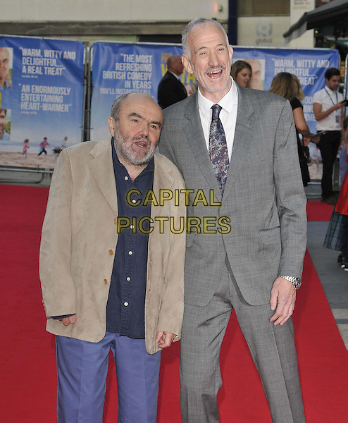 """LONDON, ENGLAND - SEPTEMBER 22: Andy Hamilton & Guy Jenkin attend the """"What We Did On Our Holiday"""" UK film premiere, Odeon West End cinema, Leicester Square, on Monday September 22, 2014 in London, England, UK. <br /> CAP/CAN<br /> ©Can Nguyen/Capital Pictures"""