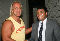 Hulk Hogan Muhammed Ali 1985<br /> Photo By Adam Scull/PHOTOlink.net
