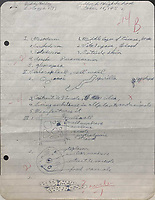 BNPS.co.uk (01202) 558833<br /> Pic: OmegaAuctions/BNPS<br /> <br /> Pictured: The 16 year old's work, dated October 16, 1952, was graded a 'B' in red pen by a teacher at Lubbock night school<br /> <br /> Two pages of Buddy Holly's biology homework have emerged for sale for £3,000.<br /> <br /> The future rock 'n' roll star clearly took his academic life seriously as he made diligent notes about cells, tissues and organs.<br /> <br /> The 16 year old's work, dated October 16, 1952, was graded a 'B' in red pen by a teacher at Lubbock night school in his native Texas, US.<br /> <br /> At the time, Holly had made some local TV appearances but it was not until the following year that he founded the group 'Buddy and Bob'.