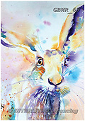 Simon, REALISTIC ANIMALS, REALISTISCHE TIERE, ANIMALES REALISTICOS, paintings+++++LizC_SpringHare,GBWR69,#a#, EVERYDAY