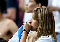 KAZAN - RUSIA, 30-06-2018: Hinchas de Argentina luce decepcionados después del partido de octavos de final entre Francia y Argentina por la Copa Mundial de la FIFA Rusia 2018 jugado en el estadio Kazan Arena en Kazán, Rusia. / Fans of Argentina llok disappointed after the match between France and Argentina of the round of 16 for the FIFA World Cup Russia 2018 played at Kazan Arena stadium in Kazan, Russia. Photo: VizzorImage / Julian Medina / Cont