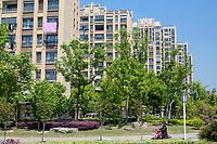 Yangzhou, Jiangsu, China.  Modern Apartment Buildings.