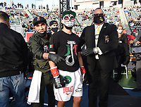 CARSON, CA - MAY 1: Javier Molina enters the ring for his fight against Jesus Ramos Jr. on the Fox Sports PBC Pay-Per-View fight on May 1, 2021 at Dignity Health Sports Park in Carson, CA. (Photo by Frank Micelotta/Fox Sports/PictureGroup)