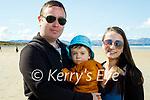 Enjoying a stroll in Banna beach on Tuesday, l to r: Derry, Dylan and Shauna Kelliher.