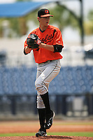 GCL Orioles Hunter Harvey (48) during a game against the GCL Rays on July 26, 2013 at Charlotte Sports Complex in Port Charlotte, Florida.  GCL Orioles defeated the GCL Rays 4-3.  (Greg Wagner/Four Seam Images)