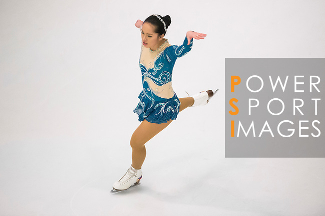 Mikayla Shalom Fabian competes during the Asian Junior Figure Skating Challenge 2015 on October 07, 2015 at the Festival Walk Mall in Hong Kong, China. Photo by Aitor Alcalde/ Power Sport Images