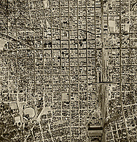historical aerial photograph Albuquerque, New Mexico, 1949
