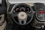 Steering wheel view of a 2010 Kia Soul!