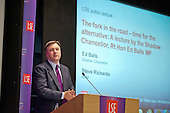 Shadow Chancellor Ed Balls MP makes a keynote speech on the economy at the London School of Economics